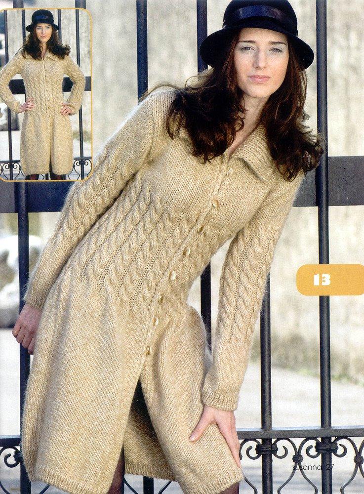 Новые модели вязанных пальто